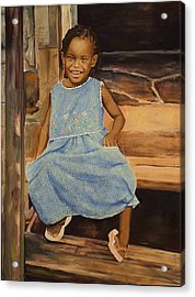 Smile From Honduras Acrylic Print by Sheila Diemert
