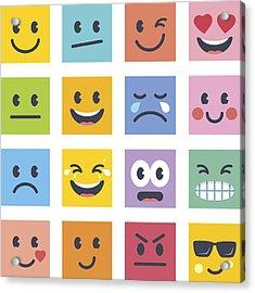 Smile Icons Acrylic Print by GoodGnom