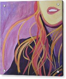 Smile Acrylic Print by Ingrid Torjesen