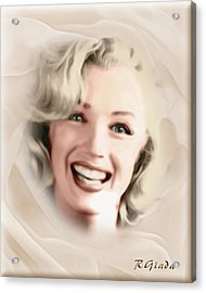 Smile Of A Goddess Acrylic Print by Giada Rossi