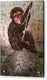 Smiley On A Wrecking Ball Acrylic Print by Helen Wendle
