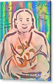 Smiling Brown Buddha  Acrylic Print by Tony B Conscious