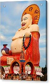 smiling Buddha Acrylic Print by Adrian Evans