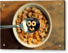 Smiling Cereal Acrylic Print by Katesea