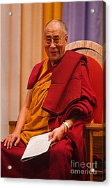 Smiling Dalai Lama Acrylic Print by Craig Lovell