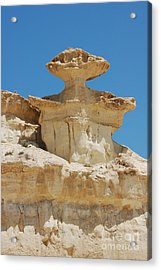 Smiling Stone Man Acrylic Print by Linda Prewer