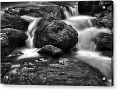 Smith Creek In Black And White Acrylic Print