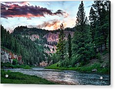 Smith River At Dusk Acrylic Print