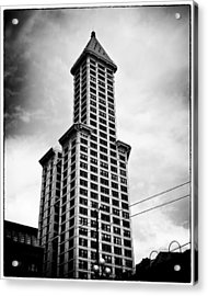 Smith Tower Acrylic Print by Tanya Harrison