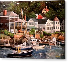 Smiths Cove Gloucester Acrylic Print by Eileen Patten Oliver