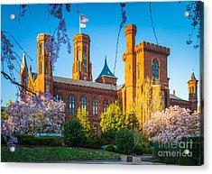 Smithsonian Castle Acrylic Print by Inge Johnsson