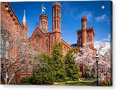 Smithsonian Castle Wall Acrylic Print by Inge Johnsson