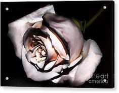Smoked Rose Acrylic Print by Mariola Bitner