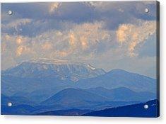 Smokey Blue Morning Acrylic Print by Peter  McIntosh
