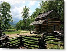 Smoky Mountain Cabin Acrylic Print
