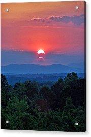 Smokey Mtn Sunset Acrylic Print