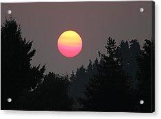 Acrylic Print featuring the photograph Smokey Sunrise by E Faithe Lester