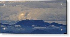 Smokey Tippy Top Morning Acrylic Print by Peter  McIntosh
