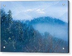 Smokies In Blue Acrylic Print