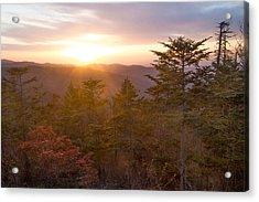 Smokies Sunset Acrylic Print by Doug McPherson