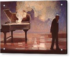 Smokin Piano Acrylic Print by Emily Gibson