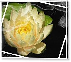 Smoking Beauty Acrylic Print by Debra     Vatalaro