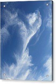 Smoking Blue Acrylic Print by Steven Hart