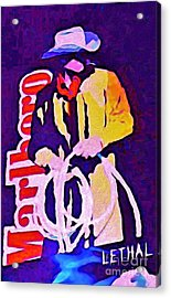 Smoking Can Be Lethal Acrylic Print by John Malone