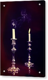 Smoking Candle Acrylic Print by Amanda Elwell