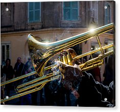 Smoking Hot Trombone Acrylic Print