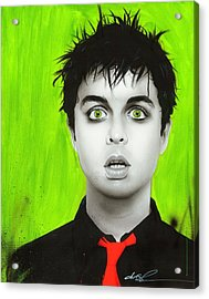 Billie Joe Armstrong - ' Smoking My Inspirationnnn ' Acrylic Print by Christian Chapman Art