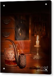 Smoking Pipe Acrylic Print by Amanda Elwell