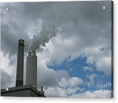 Smoking Stack Acrylic Print by Ann Horn