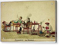 Smoking The Hooka Acrylic Print by British Library
