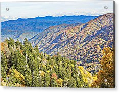 Smoky Mountain Autumn Vista Acrylic Print