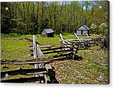 Smoky Mountain Cabins Acrylic Print by Paul W Faust -  Impressions of Light