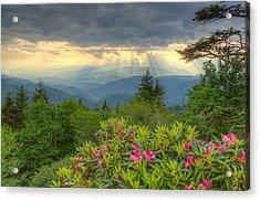 Spring Sunset - Great Smoky Mountains Acrylic Print
