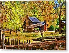 Smoky Mountain Homestead Acrylic Print by Kenny Francis
