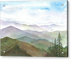 Smoky Mountain Morning Acrylic Print by Rosie Phillips