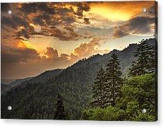 Smoky Mountain Sky Acrylic Print
