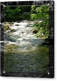 Smoky Mountain Stream - B Acrylic Print by Robert Clayton