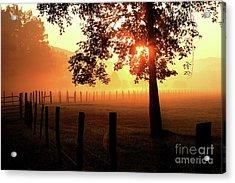 Smoky Mountain Sunrise Acrylic Print by Douglas Stucky