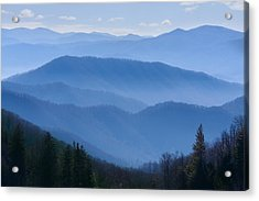 Smoky Mountains Acrylic Print by Melinda Fawver