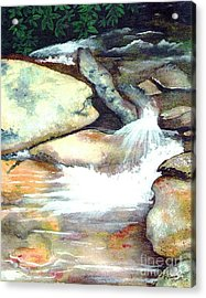 Smoky Mountains Waterfall Acrylic Print by Patricia Griffin Brett