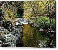 Smoky Mountian River Acrylic Print by Sandy Keeton