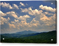 Smoky Peaks And Sky Acrylic Print