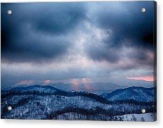 Smoky Sunset Acrylic Print by John Haldane