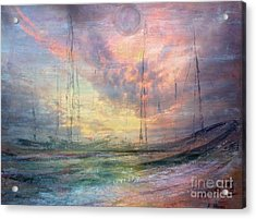 Smooth Sailing Acrylic Print by Jessie Art