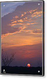 Smooth Sunset Acrylic Print by Leticia Latocki