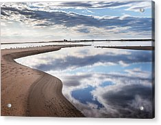 Smooth Water Reflections Acrylic Print by Bill Wakeley